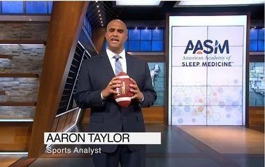 Check out Super Bowl Champion Aaron Taylor's PSA about Sleep Apnea